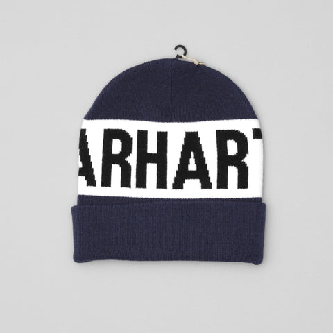 Carhartt shore beanie blue/white/black