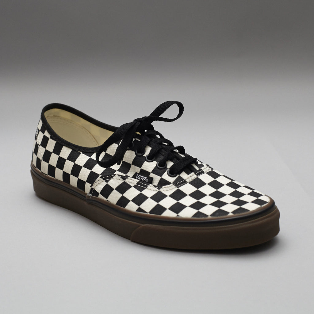 black and white checkerboard authentic vans