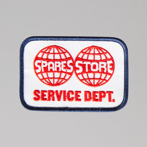 Sparesstore service department woven patch Navy/red