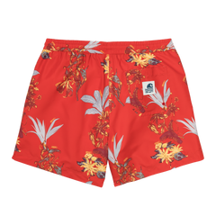 Carhartt drift swim trunk Hawaiian print red