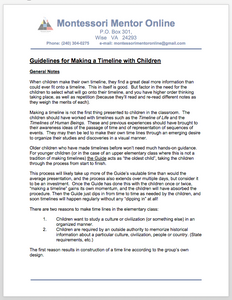 Guidelines for Making a Timeline with Children
