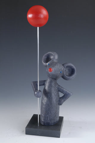 Picture of Grey Mouse With Red Balloon #8