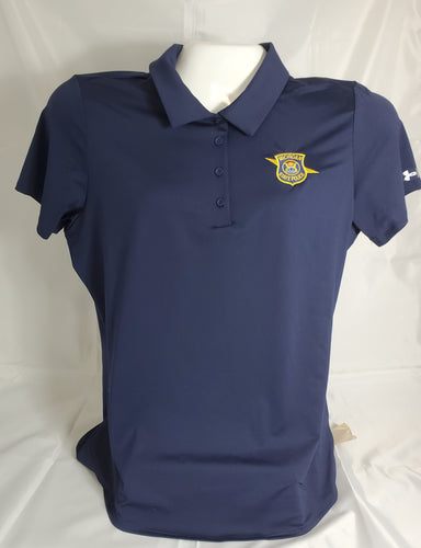 Womens UA Navy  Polo