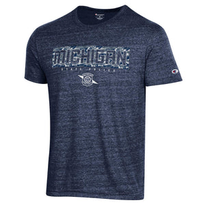 Mens Champion Blue Camouflage Tee