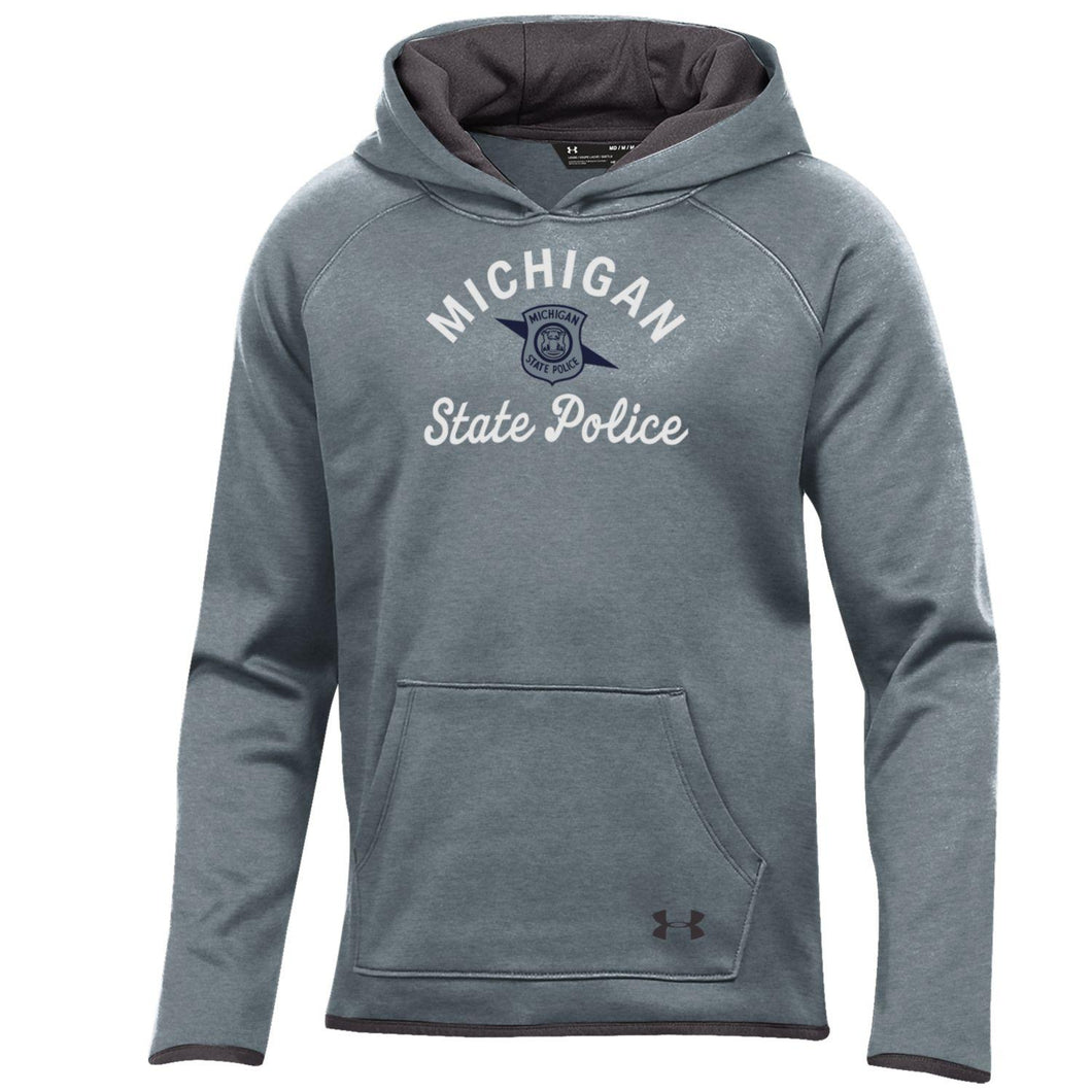 Girls UA Grey Fleece Hood