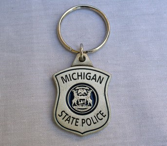 Pewter Shield Keychain