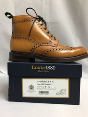 Loake Bedale Tan Brogue Boot Rubber Sole