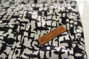 NEW!!!! Leather pin in camel, sued leather, stitches pin