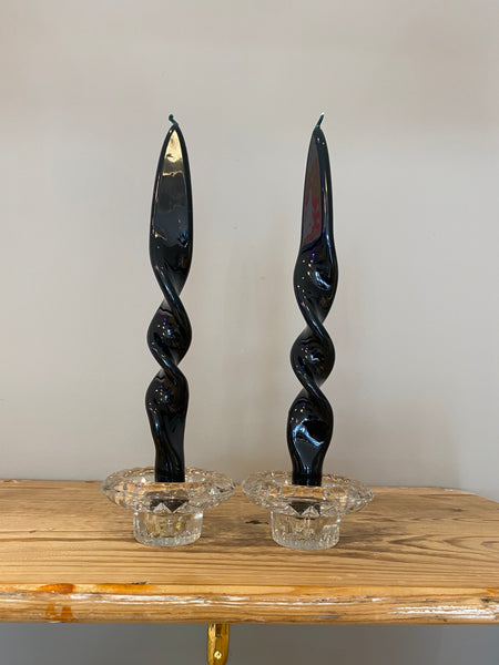 Set of 2 Lacquered Double Twist Candles