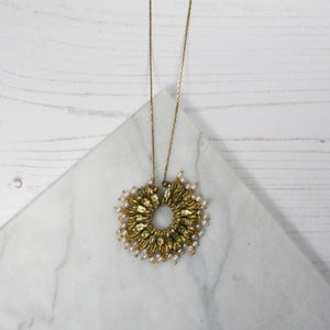 Long Brass Necklace