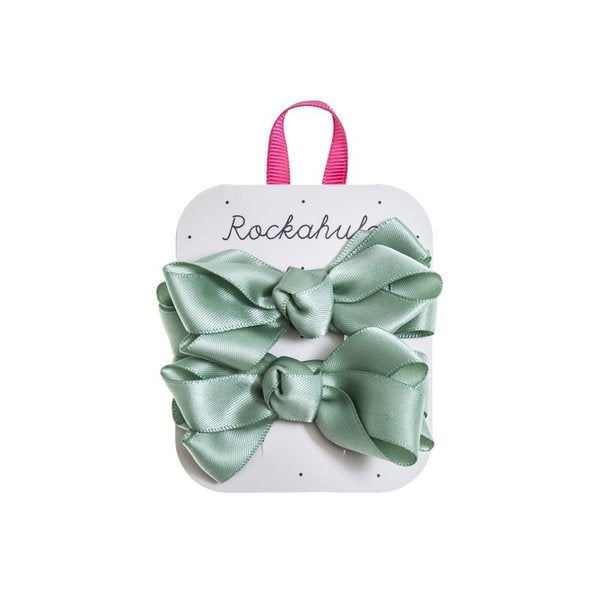 satin bow clips