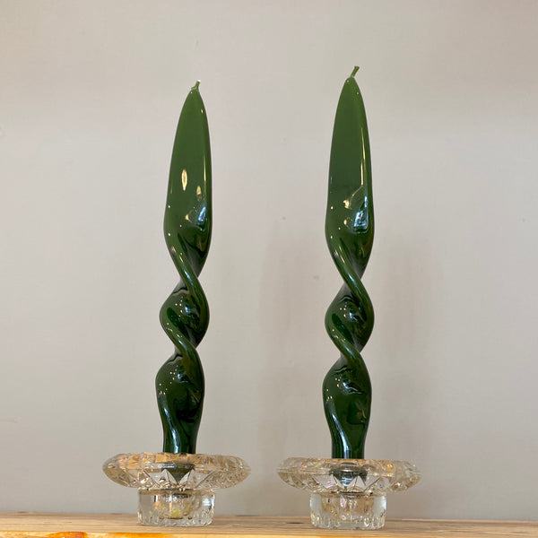 Set of 2 Double Twist Candles