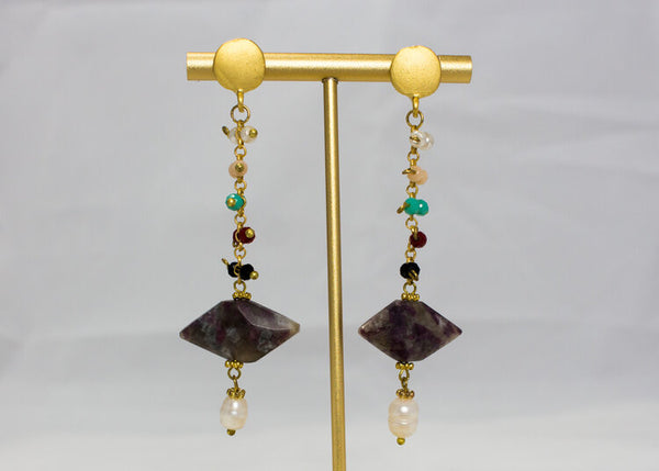 Drop Stone Earrings