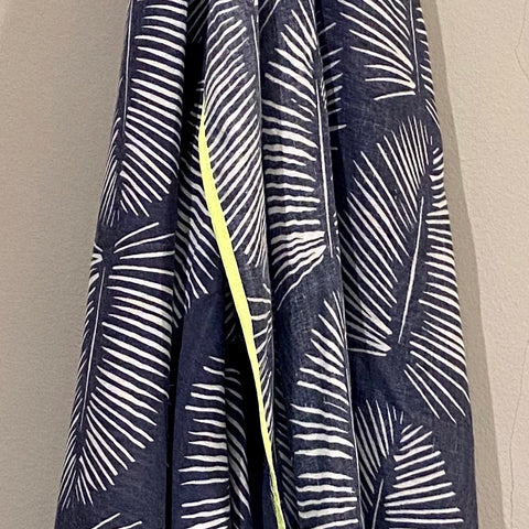 Indigo Tropical Scarf