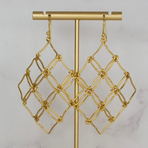 Statement Net Earrings