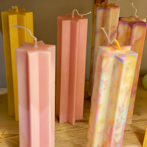 Star Pillar Candle