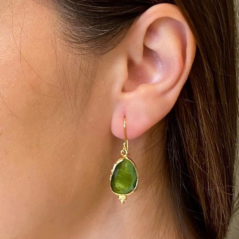 Green Gemstone Earring