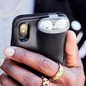Black 2 in 1 iPhone/Airpods Case