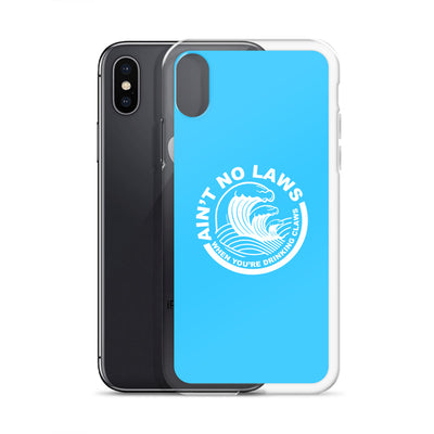Blue Ain't No Laws iPhone Case