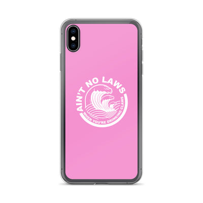 Pink Ain't No Laws iPhone Case