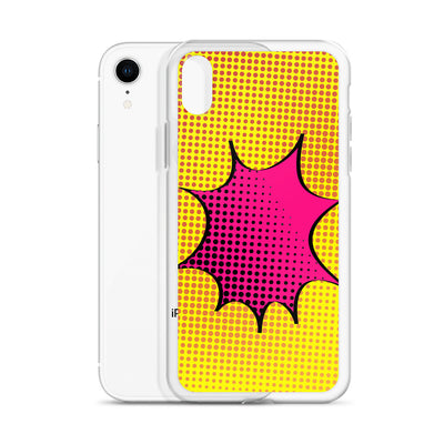 Yellow/Pink Pop Art iPhone Case