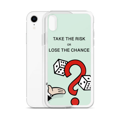 Take The Risk iPhone Case