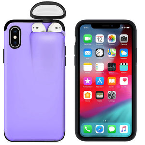 Purple 2 in 1 iPhone/Airpods Case