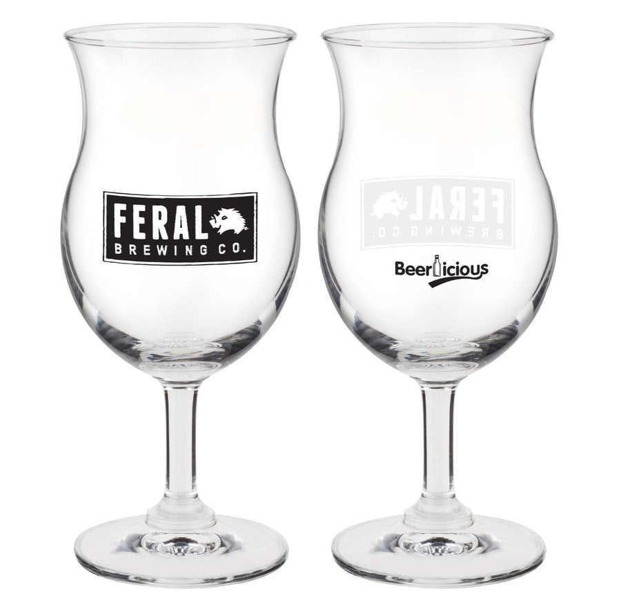 Feral Brewing Chalice Glass Glass Craft Delivery Thailand- Craft Delivery Thailand
