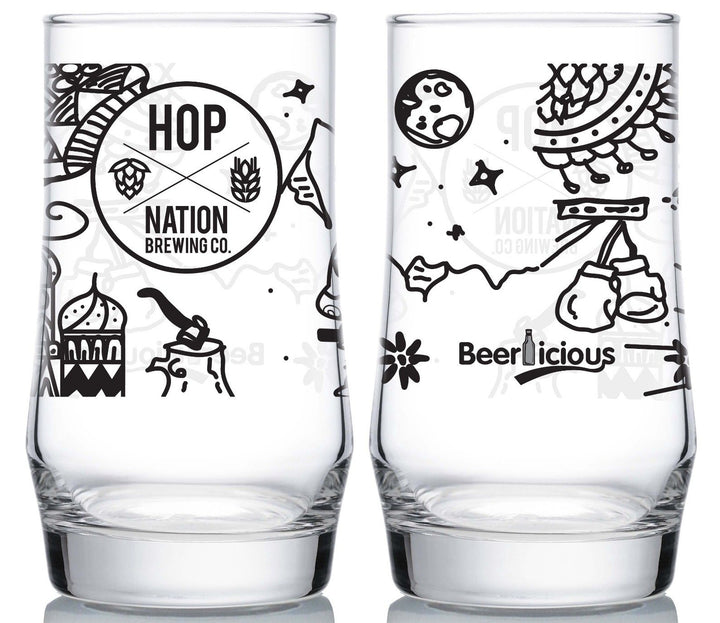 Hop Nation Glass Glass Craft Delivery Thailand- Craft Delivery Thailand