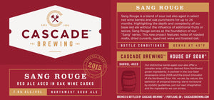 Sang Rouge | 2015 Sour Cascade Brewing- Craft Delivery Thailand