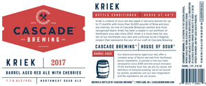 KRIEK | 2017 Sour Cascade Brewing- Craft Delivery Thailand
