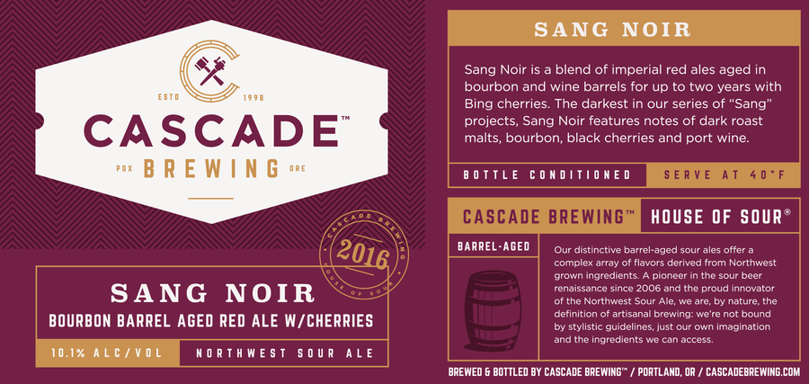 Sang Noir | 2016 Sour Cascade Brewing- Craft Delivery Thailand