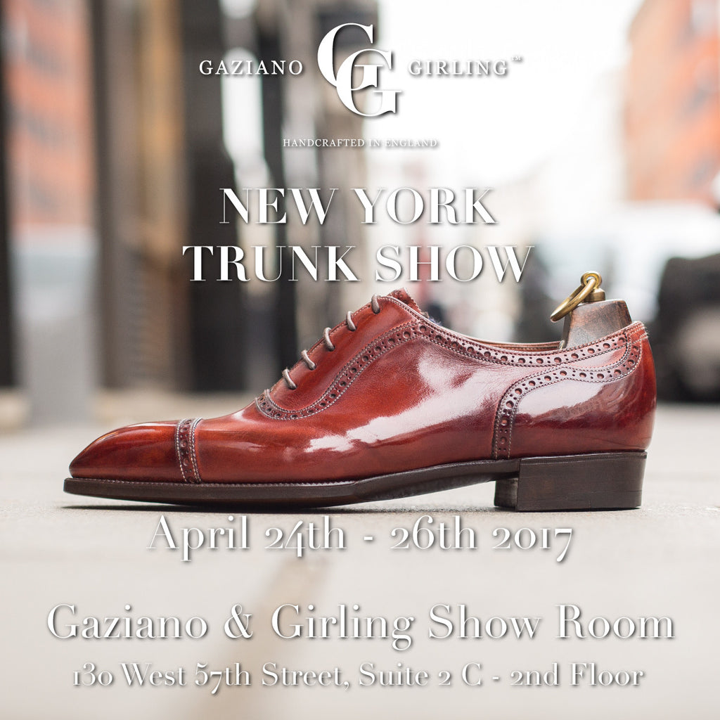Gaziano & Girling - Upcoming Trunk Shows in New York