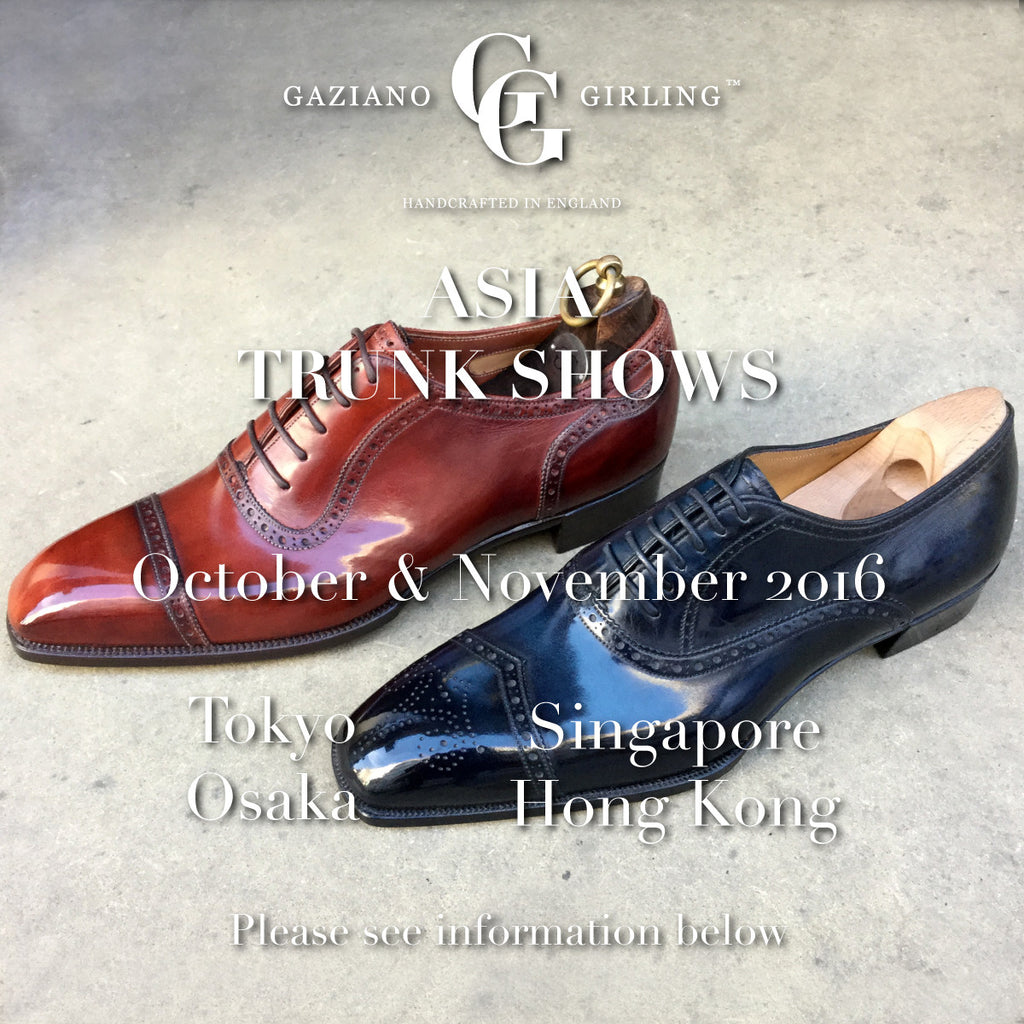 Upcoming Trunk Shows in Asia