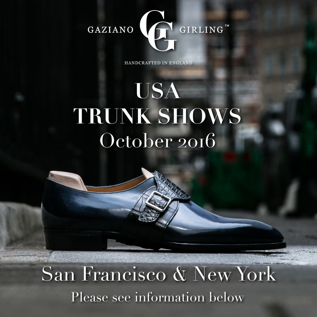 Upcoming Trunk Shows in the USA