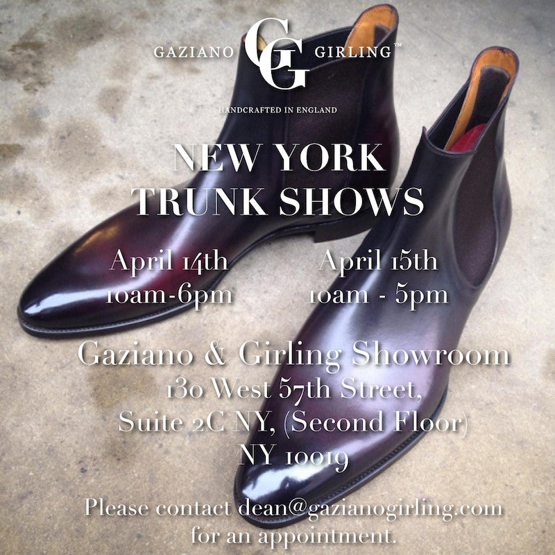 Trunk Show - New York City - April 2016