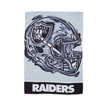 Las Vegas Raiders , Garden Flag by Justin Patten