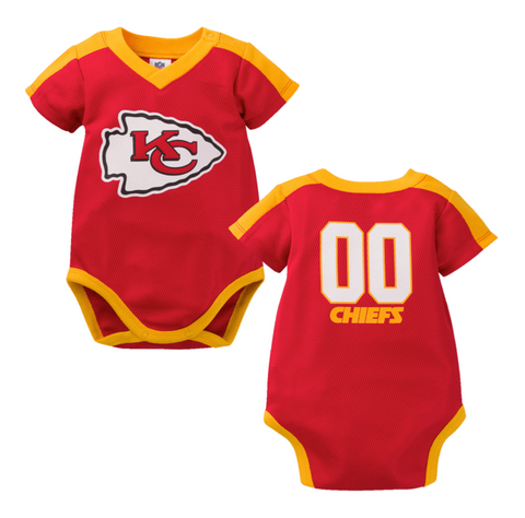 Kansas City Chiefs Baby Boy Jersey Bodysuit 3-6M