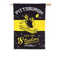 PITTSBURGH STEELERS VINTAGE LINEN HOUSE FLAG