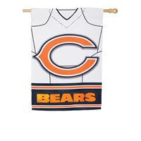 CHICAGO BEARS DOUBLESIDED SUEDE JERSEY HOUSE FLAG