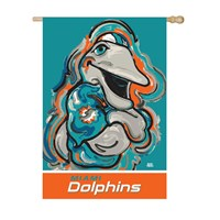 MIAMI DOLPHIN SUEDE JUSTIN PATTEN HOUSE FLAG
