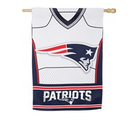 NEW ENGLAND PATRIOTS DOUBLESIDED SUEDE JERSEY HOUSE FLAG