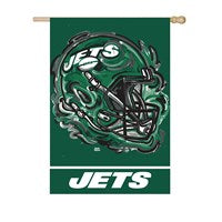 NEW YORK JETS SUEDE JUSTIN PATTEN HOUSE FLAG