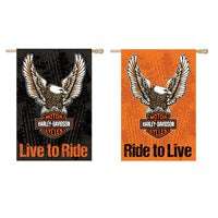 HARLEY DAVIDSON SUEDE DOUBLESIDED HOUSE FLAG