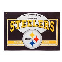 PITTSBURGH STEELERS LINEN ESTATE FLAG