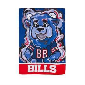 Buffalo Bills , Garden Flag by Justin Patten