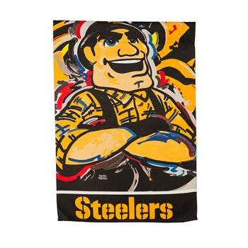 Pittsburgh Steelers, Garden Flag by Justin Patten