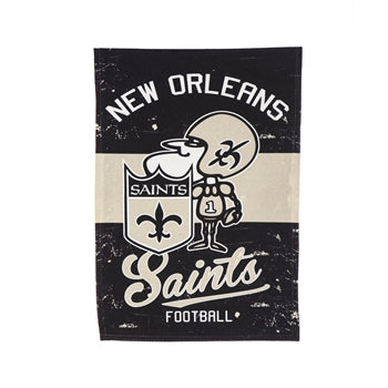 New Orleans Saints  Vintage Linen Garden Flag