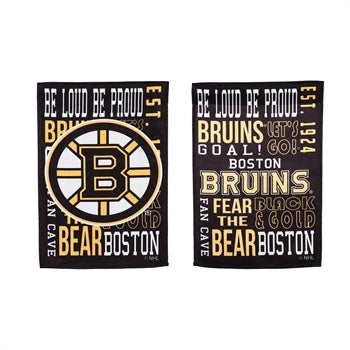 Boston Bruins Fan Rules Garden Flag