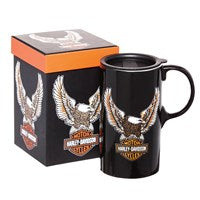 HARLEY DAVIDSON TALL BOY EAGLE TRAVEL CUP W/MATCHING BOX